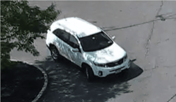 Colonie police are looking for a white 2011-2012 Kia Sorrento with a white New York license plate and EZ Pass in the windshield following a report of a man pushing a teenaged girl into a parked car Wednesday, Aug. 19.