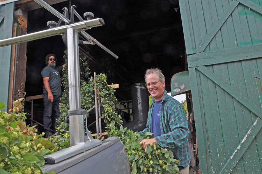 Friends Dietrich Gehring and Stuart Morris are opening Indian Ladder Farmstead Brewery and Cidery March 1. Submitted photo