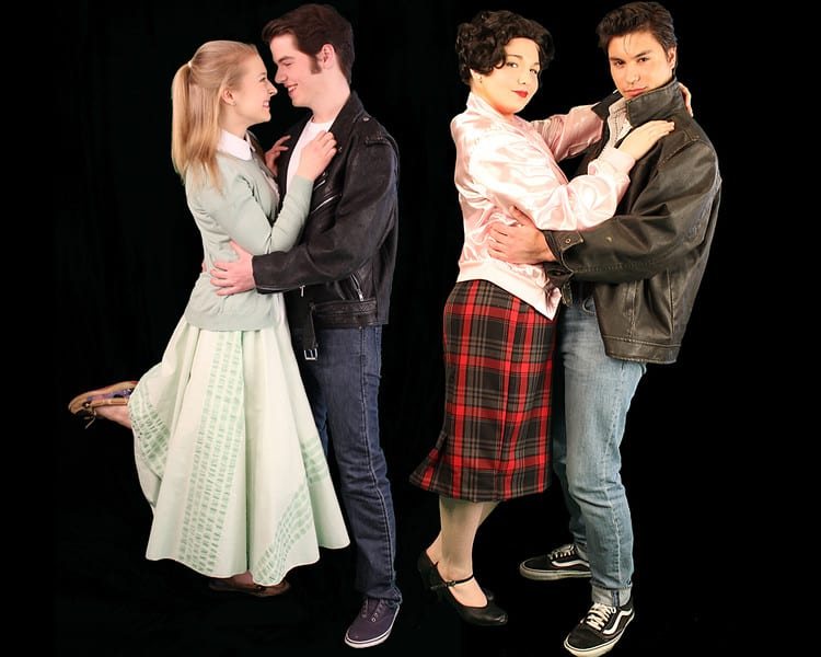 """From left to right: Mckenzie Koch, Jack Mastrianni, Hannah Thein and Lucas Martinez will portray Sandy, Denny, Rizzo, and Kenickie, respectively, in BCHS' Stage 700 theater group's production of """"Grease."""" Submitted photo"""