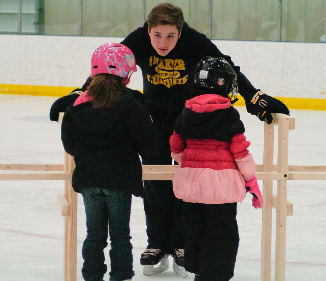 The Albany County Learn to Skate/Learn to Play Hockey program is midway through its inaugural six-week run at the county rink in Colonie. The free program is attracting children ages 5-9 from across the county to take their first steps on the ice. Rob Jonas/Spotlight