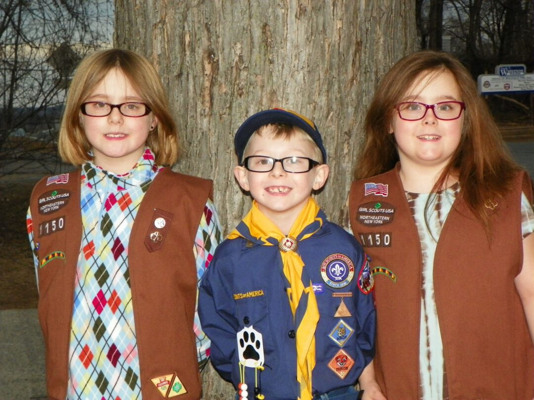 The Steuer triplets have embraced scouting, with the whole family making new friends and learning new skills in the process.