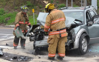 Route 20 crash sends at least two people to the hospital