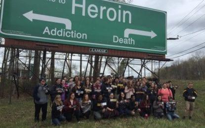 'Welcome to Heroin' Wins 2016 CCHS Art Department Billboard Design Contest