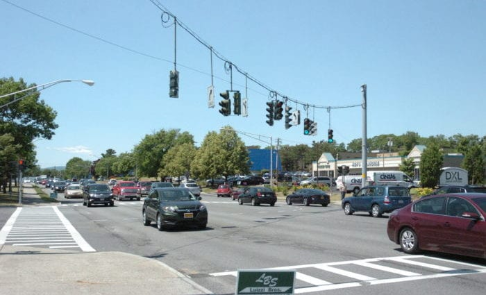 Wolf Road near the intersection of Central Avenue is one of the areas Colonie Police are  monitoring for traffic violations. Kassie Parisi/Spotlight