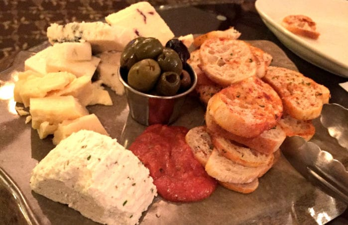 The reviewer epecially enjoyed the cheese plate at the Stockade Inn. Elizabeth Schaefer