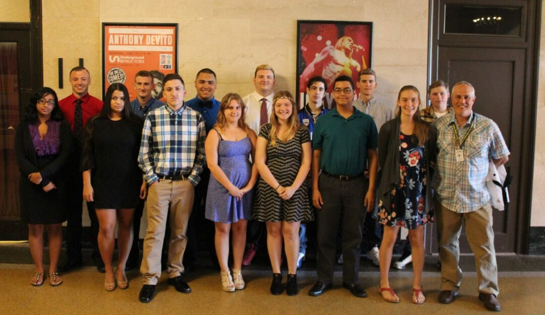 Rother, Balzan and the BOCES Career & Tech School culinary class of 2016 at the June 9 BOCES awards ceremony.