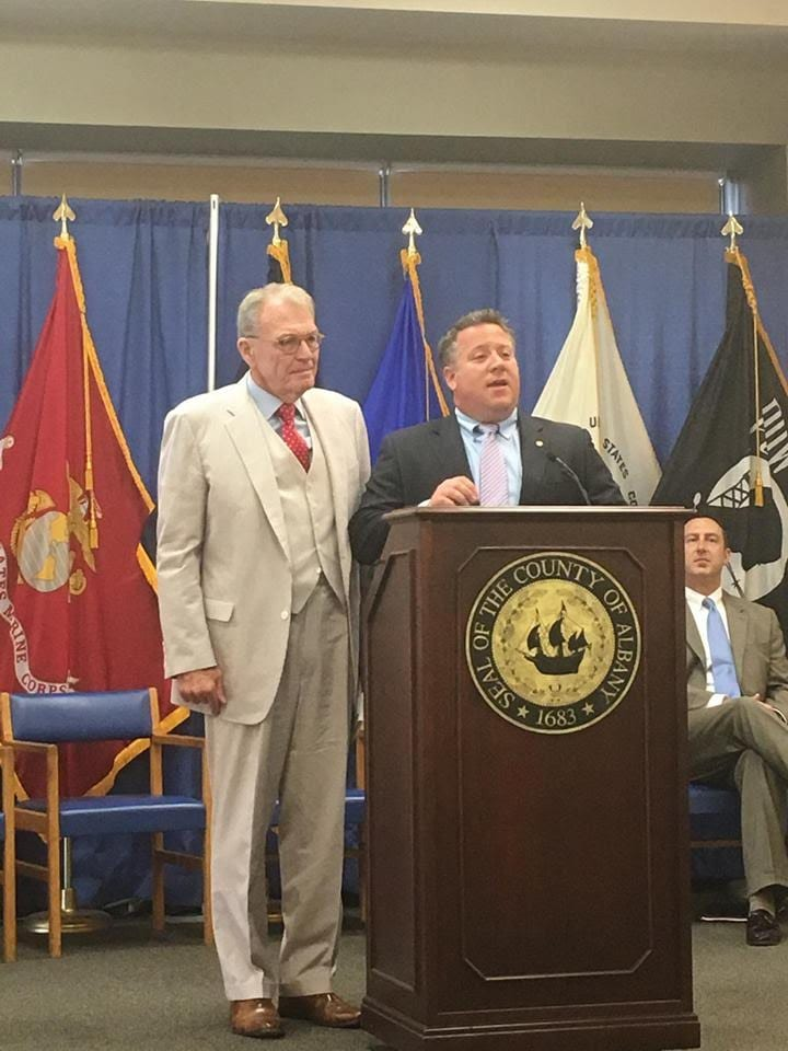 Albany County Executive Dan McCoy (right) announced on Thursday that Terry Kindlon, a retired prominent local attorney, will be responsible for training new lawyers in the county Public Defender's Office.