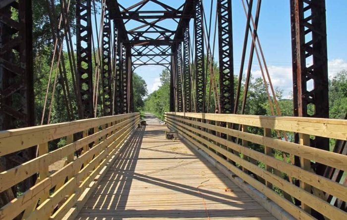 The converted train trestle is now a point of attraction on the Albany County Rail Trail. The rail trail will soon be the site of a charity run to benefit a local woman fighting cancer. Submitted photo