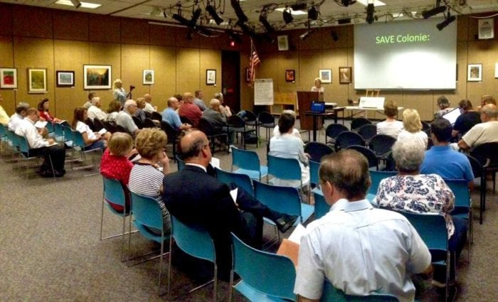 Save Colonie holds its first meeting in the Stedman Room of the the William K. Sanford Library in Loudonville on Wednesday, June 29.  Save Colonie/Facebook