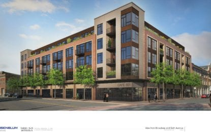 Rosenblum breaks ground on 101-unit apartment and retail project at former Troy Record Building