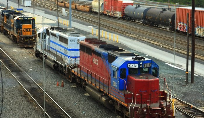 Selkirk Rail Yard is one of the largest rail yards in the country. Here are three of several engines that can be found each day at the yard. Photo by Brian Zwicklbauer