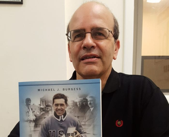Delmar-based author Michael Burgess just released a new book about Olympian Jack Shea's personal stand against the 1936 Winter Games in Germany. Rob Jonas/Spotlight
