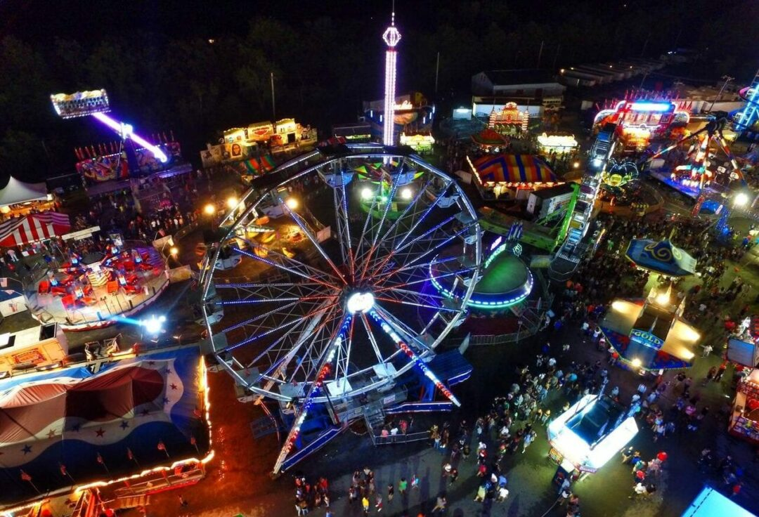 The midway lights up the Altamont Fair at night. — Photo provided by The Altamont Fair