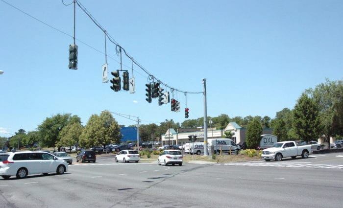 The intersection of Wolf Road and Central Avenue by Colonie Center Mall and Northway Shopping Center is considered one of the most dangerous roads in the area. Kassie Parisi / Spotlight News