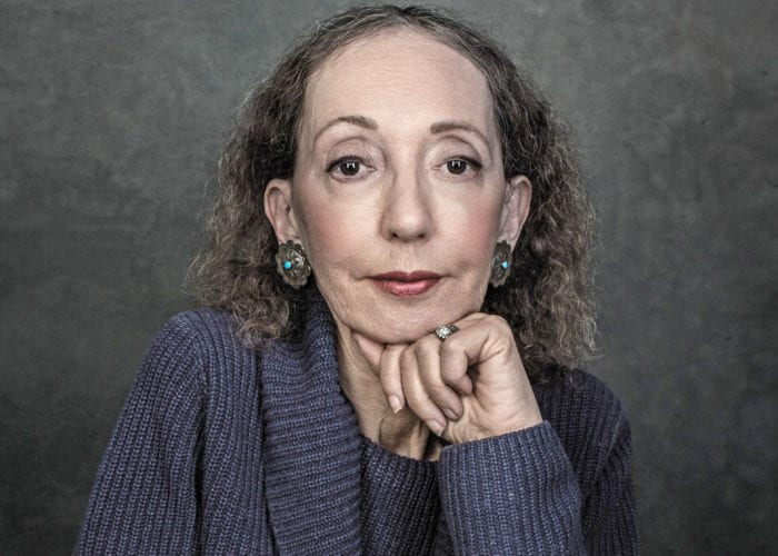 """Author Joyce Carol Oates is the first guest of """"The Creative Life: A Conversation Series"""" at the University at Albany. Photo by Dustin Cohen"""