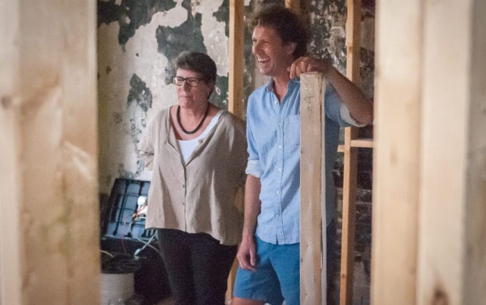 Barbara Nelson and Adam Frelin happy to see project running. Michael Hallisey/TheSpot518