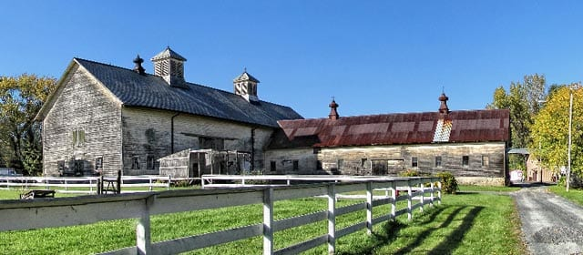 A 1916 barn on the Shaker Heritage Society's Watervliet site. File photo