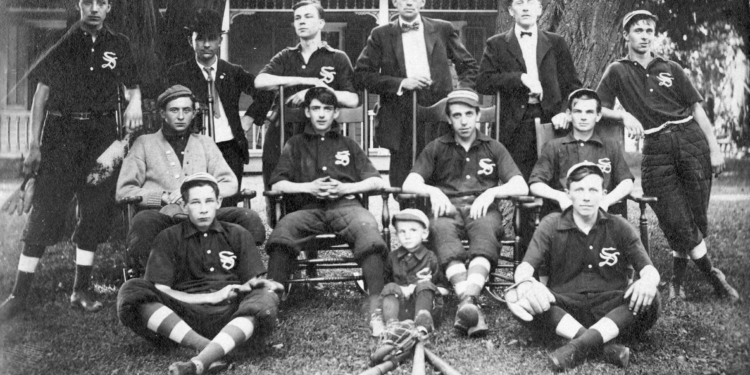 The Slingerlands Village Wonders dominated the local amateur baseball scene for several years after the turn of the century. Though eventually phased out by larger leagues, the team's legacy lives on through its players who became household names elsewhere. (Photo courtesy Town of Bethlehem archives)