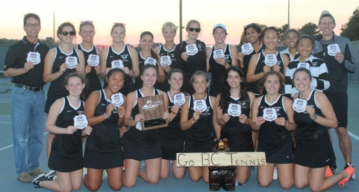 The Bethlehem girls tennis team won the Section 2 Class AA title for the second year in a row. Submitted photo