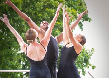 Members of the Ellen Sonopoli Dance Company perform during Made in the Shade at The Egg on Aug. 10. Michael Hallisey/SpotlightNews