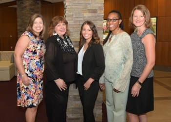 eft to Right: Maria D'Amelia – Stewart's Shops Corp., Lisa Frisch – The Legal Project, Kasey Carota – Stewart's Shops Corp., Carmen Duncan – Mission Accomplished Transition Services, and Angela Mash – Stewart's Shops Corp