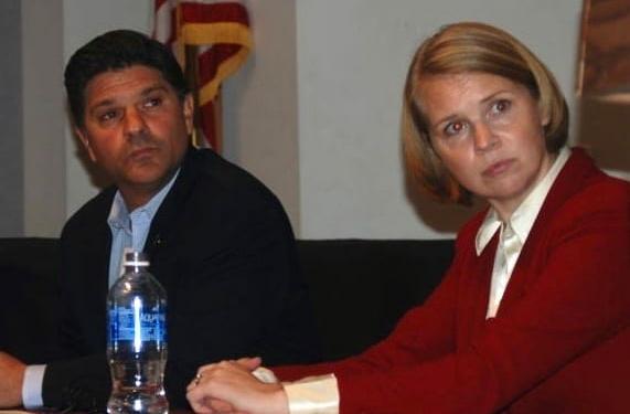 Incumbent Senator George Amedore and challenger Sara Niccoli debate issues raised by the residents of New York's 46th senate district. (Photo by Ali Hibbs, Spotlight News)
