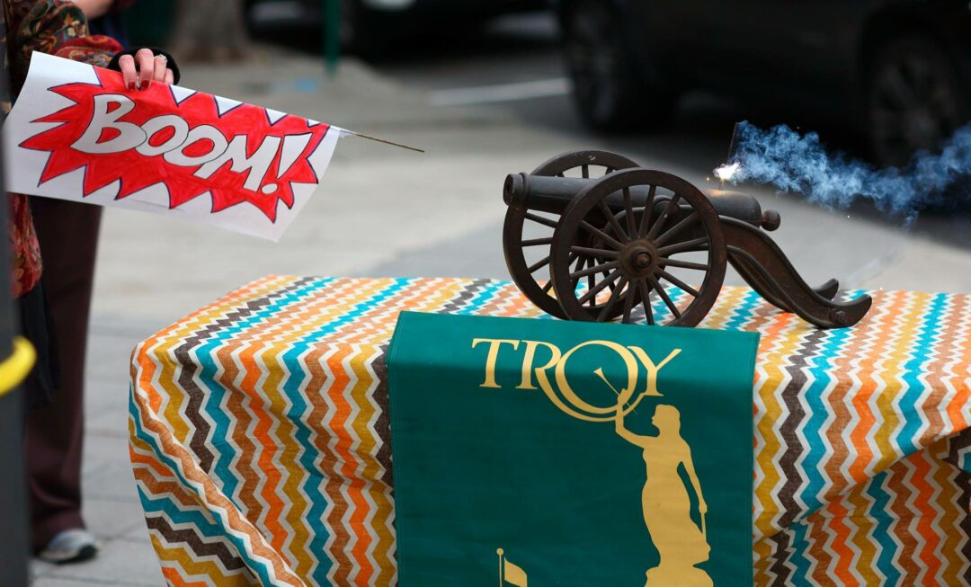 The Troy cannon (photo by Mike Brown/for Spotlightnews.com)