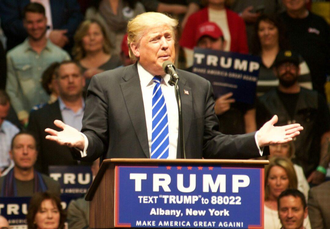 Donald Trump at the Times Union Center ([photo by Jim Franco/spotlightnews.com)