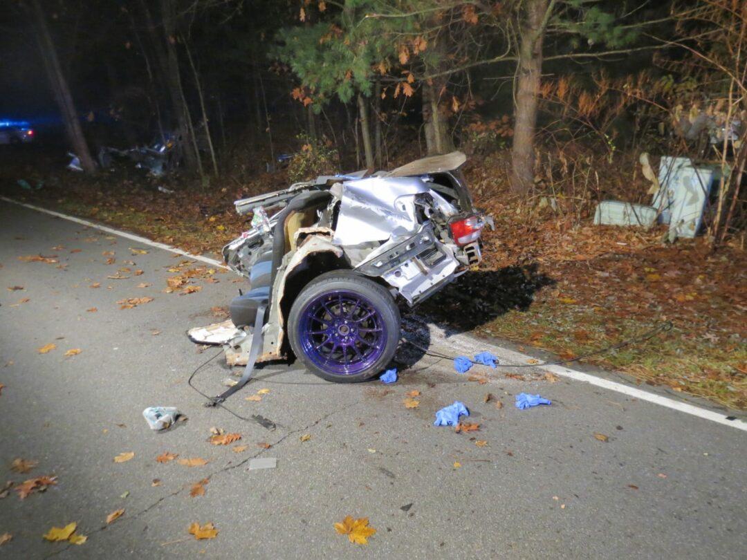 Bethlehem emergency responders attended to a one-car fatal accident early Saturday morning, Nov. 19 on Bender Lane in Delmar. (Photos by Thomas Heffernan, Sr.)