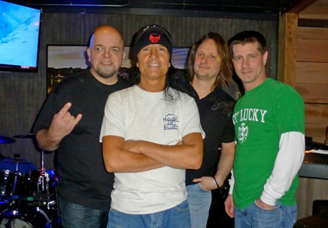 Anthrax's Joey Belladonna stands with Chief Big Way, a cover band he's played with for the past several years.  (Photo from  Chief Big Way/Facebook)