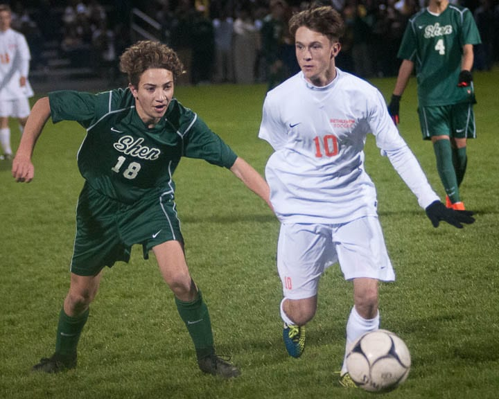Bethlehem boys soccer wins the Section II Class AA title game by defeating Shenendehowa in penalty kicks.