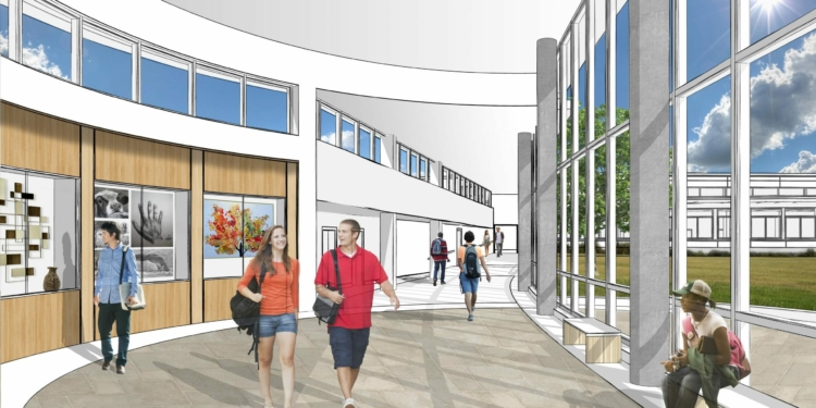 A rendering of the capital project (photo provided by the school district)