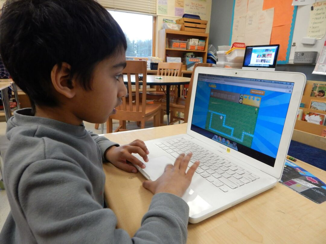 Students from all five district elementary schools learned coding basic through programs such as Kodable // Photo: BCSD