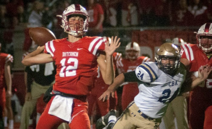 George Marinopoulos is one of three Guilderland players named to the Class AA All-State football team by the New York State Sportswriters Association. Spotlight file photo