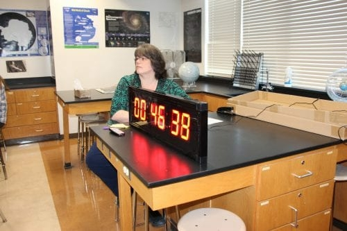Jamie Rowe in a classroom (Photo by Hanna  Teal/BCSD)