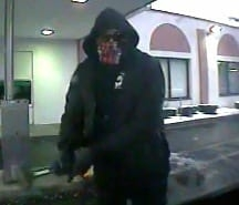 Suspect wanted in connection with the attempted robbery of an ATM in Colonie (photo via Colonie Police)