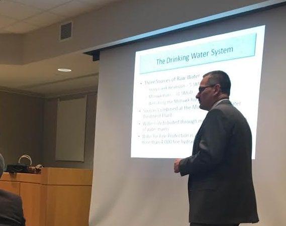 John Fazer of Latham Water addresses CPAC Committee. (Kassie Parisi/Spotlight News)