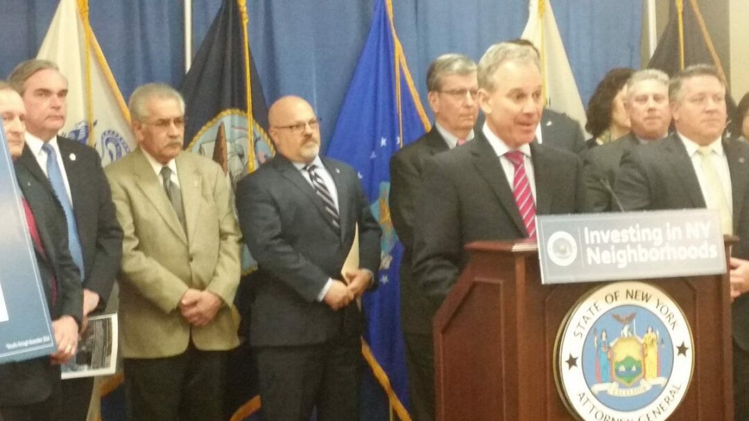 AG Schneiderman announces land bank grants at the Harold L. Joyce Albany County Office Building // Photos: Dennis Yusko