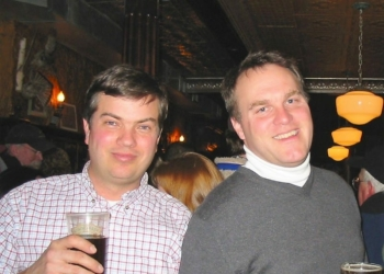 Chatham Brewing co-founders Tom Crowell and Jake Cunningham at their launch party in 2007 / Photo: Chatham Brewing