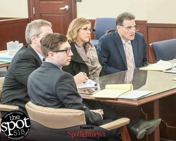 Mariana Viviani and her attorneys in court. (Photo by Jim Franco/Spotlight News)