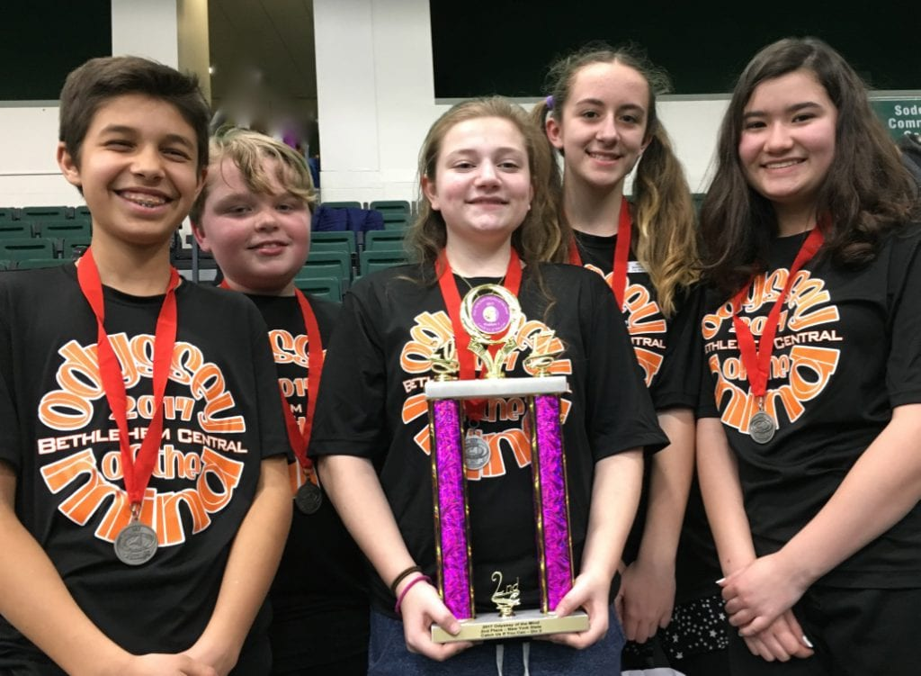 BCMS Problem #1, Division 2: Tyler Novak, Charles Blanchard, Lilian Beiter, Claire Peretta and Fiona Castle // BCSD