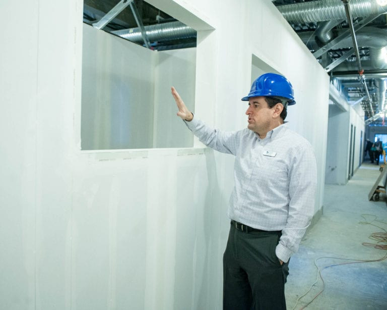 Brad Shear gives a tour of the new MHHS facility earlier this year. (Jim Franco/Spotlight News)