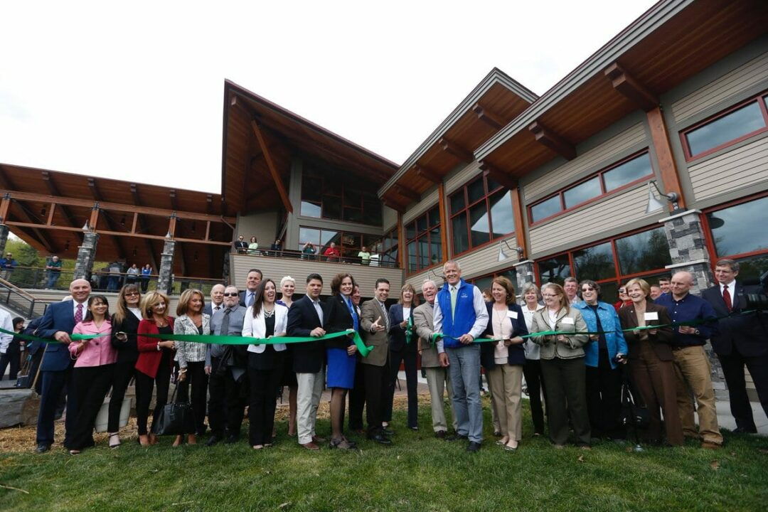 Thacher Park Center grand opening. // Photo: OSI (@OpenSpaceInst)