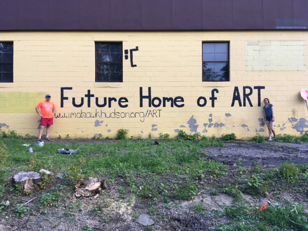 Proposed site of first ART mural at Adams St. and Hudson Ave. in Delmar. / Photo: MHLC