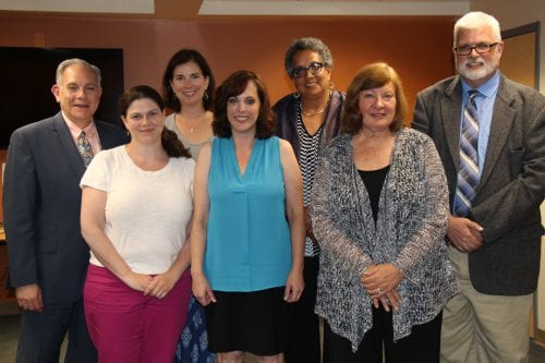 Members of the 2017-18 Bethlehem Central School District Board of Education. From left to right: Jonathan Fishbein, Meredith Moriarty, Holly Dellenbaugh, Christine Beck, Charmaine Wijeyesinghe, Lynne Lenhardt and Michael Cooper. (Photo submitted)