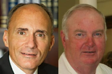 Dan Coffey (L) and Giles Wagoner (R) have appealed for the right to appear on a Democratic primary ballot on Sept. 12  (File photo)