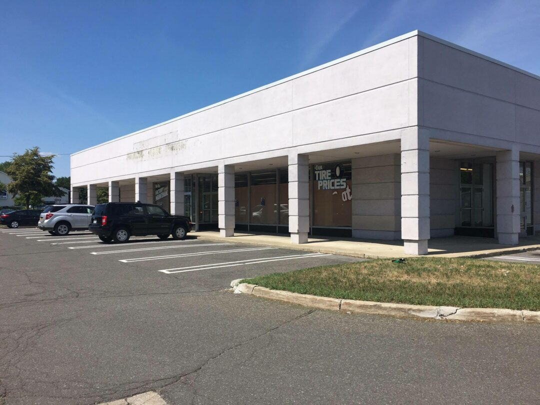 The former Sears automotive shop at the intersection of Wolf Road and Central Avenue.