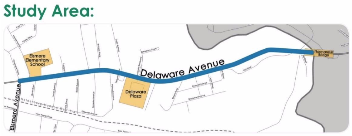 Delaware Ave. Complete Streets study area