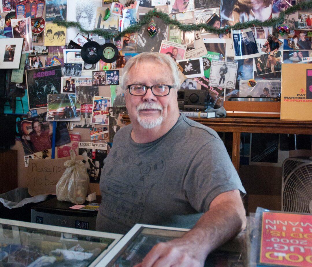 Jim Barrett at his River Street Beat Shop. Photo by Michael Hallisey/TheSpot518