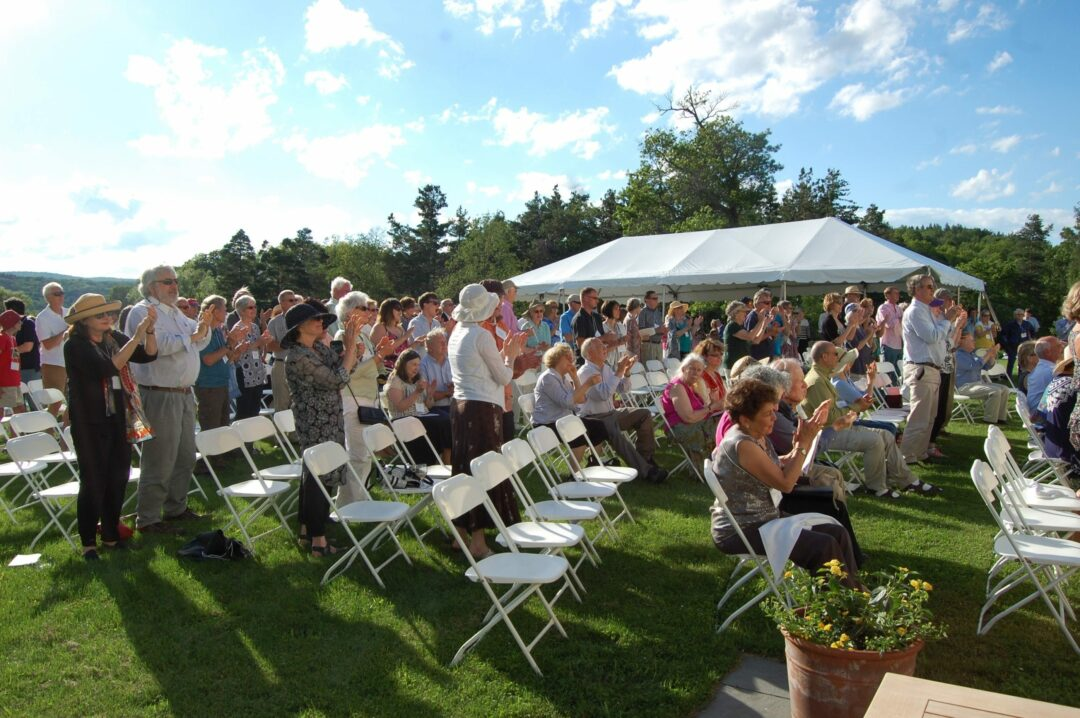 MHLC supporters  celebrate 25 years during an outdoor event earlier  this year. Photo submitted